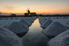Montañas de la sal Foto de archivo