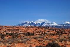 Montañas de la sal del La Imágenes de archivo libres de regalías