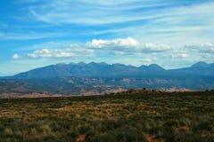 Montañas de la sal del La, Moab Utah Foto de archivo libre de regalías