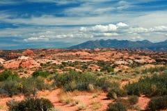Montañas de la sal del La, Moab Utah, los E.E.U.U. Foto de archivo