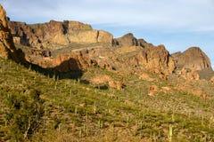 Montañas de la superstición Fotos de archivo