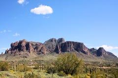 Montañas de la superstición, Arizona Fotografía de archivo