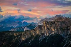 Montañas de las dolomías Italia fotografía de archivo libre de regalías