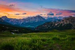 Montañas de las dolomías Italia fotografía de archivo