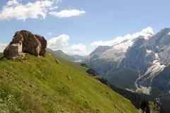 Montañas de las dolomías, Italia Fotos de archivo