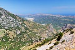 Montañas de Lasithi en Crete Imagen de archivo libre de regalías