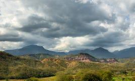 Montañas de los Andes en Perú imagen de archivo