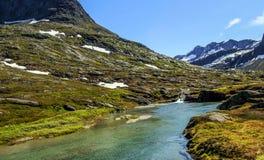 Montañas de los noruegos Fotografía de archivo