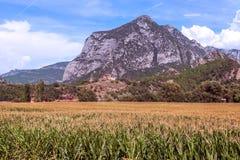 Montañas de los Pirineos Imagen de archivo libre de regalías