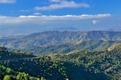 Montañas de Málaga imagen de archivo libre de regalías