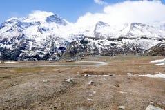 Montañas de Moncenisio en Italia Fotos de archivo libres de regalías
