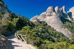 Montañas de Montserrat, Cataluña, España fotos de archivo libres de regalías