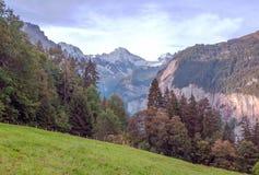Montañas de Murren fotos de archivo