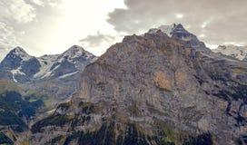Montañas de Murren foto de archivo