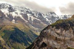 Montañas de Murren imagen de archivo