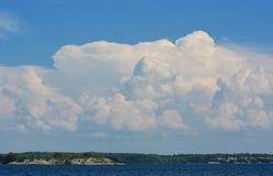 Montañas de nubes Foto de archivo