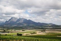 Montañas de Paarl foto de archivo libre de regalías