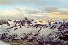 Montañas de Perú Fotos de archivo