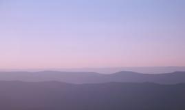 Montañas de Ridge azul Foto de archivo libre de regalías