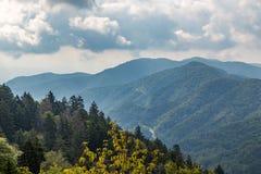 Montañas de Ridge azul Foto de archivo