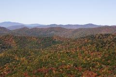 Montañas de Ridge azul en otoño Fotografía de archivo libre de regalías