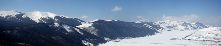 Montañas de Roccaraso Imagen de archivo
