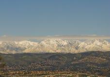 Montañas de San Bernardino en invierno fotografía de archivo