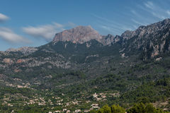 Montañas de Serra de Tramuntana Imagen de archivo libre de regalías