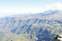 Montañas de Simien del parque nacional Imagenes de archivo