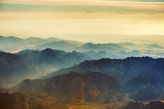 Montañas de Sinaí Imagen de archivo libre de regalías