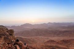 Montañas de Sinaí en el amanecer Foto de archivo