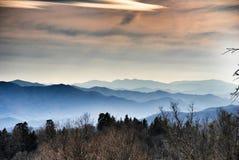 Montañas de Smokey Foto de archivo libre de regalías