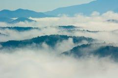 Montañas de Smokey Fotos de archivo