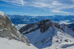 Montañas de Suiza Foto de archivo libre de regalías