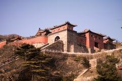 Montañas de Taishan fotos de archivo