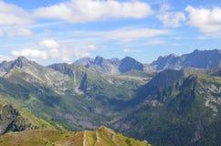Montañas de Tatra en agosto de 2014 Imágenes de archivo libres de regalías