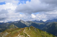 Montañas de Tatra en agosto de 2014 Fotografía de archivo libre de regalías