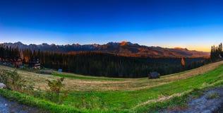 Montañas de Tatry Imagenes de archivo