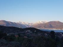 Montañas de Tivat Fotografía de archivo