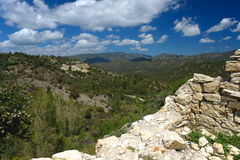 Montañas de Troodos en crete imagen de archivo