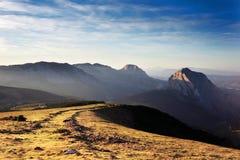 Montañas de Urkiola imagenes de archivo