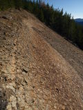Montañas de Vrancea de la geología Imagen de archivo libre de regalías