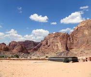 Montañas de Wadi Rum Desert, Jordania Fotografía de archivo