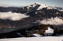 Montañas de Wolfgangsee Imagen de archivo libre de regalías