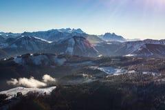 Montañas de Wolfgangsee Foto de archivo
