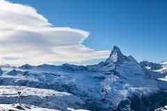 Montañas de Zermatt Imagen de archivo libre de regalías