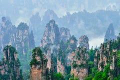Montañas de Zhangjiajie, China imágenes de archivo libres de regalías