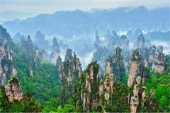 Montañas de Zhangjiajie, China imagenes de archivo