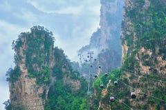 Montañas de Zhangjiajie, China imagen de archivo