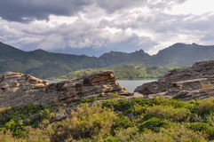 montañas del bayanaul Fotos de archivo